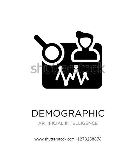 demographic icon vector on white background, demographic trendy filled icons from Artificial intelligence collection, demographic vector illustration