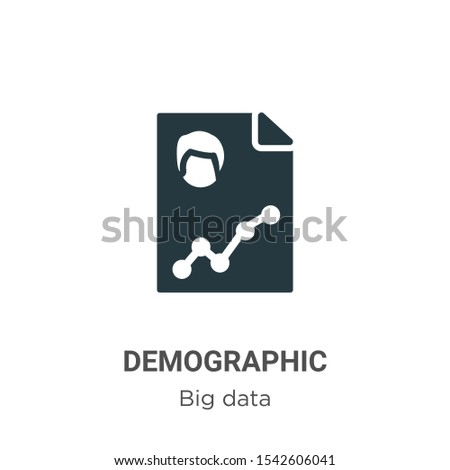 Demographic vector icon on white background. Flat vector demographic icon symbol sign from modern big data collection for mobile concept and web apps design.
