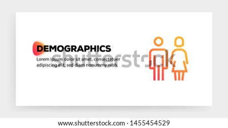 DEMOGRAPHICS AND ILLUSTRATION ICON CONCEPT