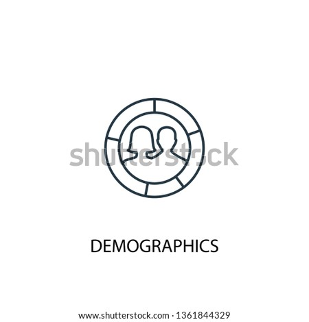 demographics concept line icon. Simple element illustration. demographics concept outline symbol design. Can be used for web and mobile UI/UX