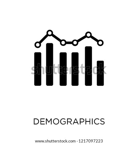 Demographics icon. Demographics symbol design from Maps and locations collection. Simple element vector illustration on white background.