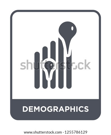 demographics icon vector on white background, demographics trendy filled icons from Maps and locations collection, demographics simple element illustration