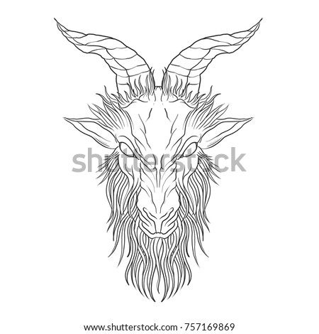 demon baphomet satanic goat
