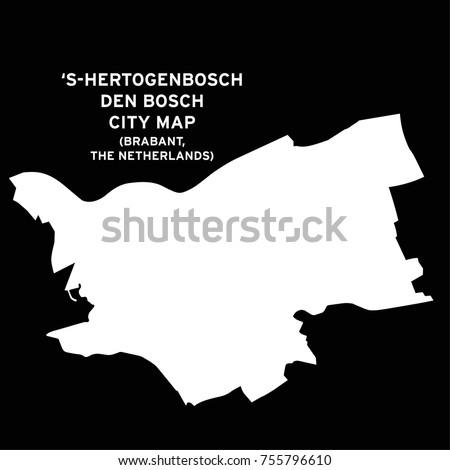 Den Bosch or Hertogenbosch, Brabant, The Netherlands city map vector