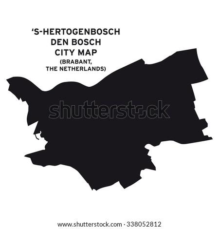 Den Bosch - 's-Hertogenbosch city map vector