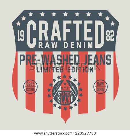 denim america  flag typography  ...