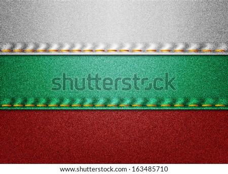denim bulgaria flag