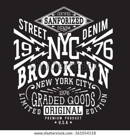 denim new york typography  t...