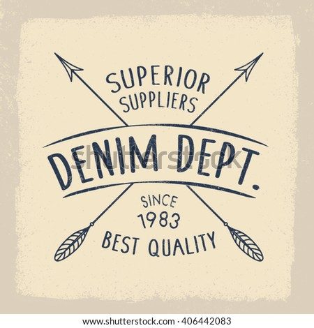 denim superior dept print for