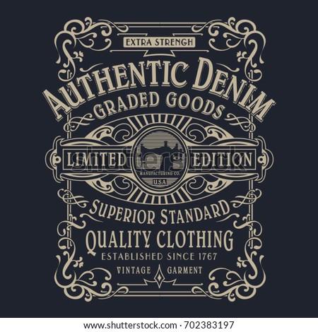 denim typography  tee shirt...