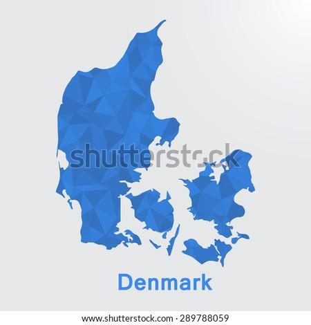 denmark flag map in geometric