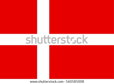 Denmark Flag. Official colors and proportion correctly. National Flag of Denmark. Denmark Flag vector illustration. Denmark Flag vector background.