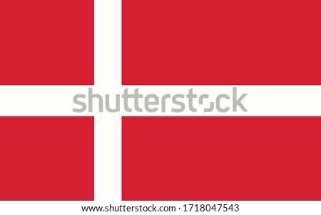 Denmark flag vector graphic. Rectangle Danish flag illustration. Denmark country flag is a symbol of freedom, patriotism and independence. Foto stock ©