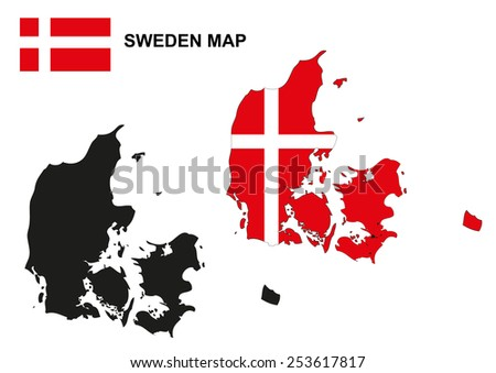 denmark map vector  denmark