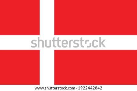 Denmark national flag , Vector Official state symbol  Foto stock ©