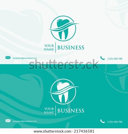 Dental business card template - vector illustration