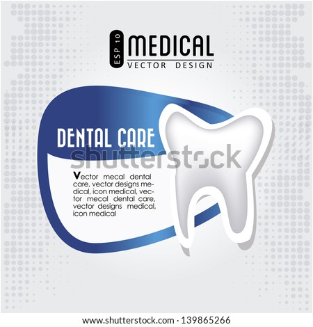 dental care icon  over gray