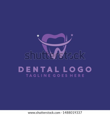 Dental Clinic And Care Logo Vector Design Template. Protect and Medicine Icon. Modern And Clinical Symbol.