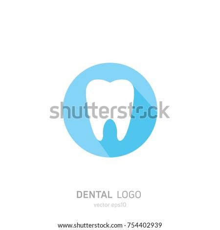 Dental Clinic logo. Heals teeth icon. Dentist office. Vector flat illustraton