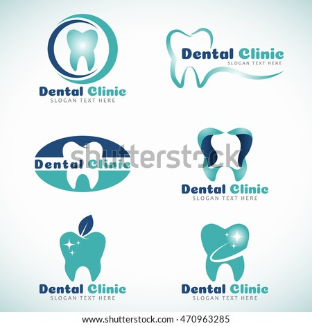 dental clinic logo sign vector