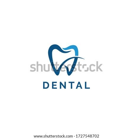 Dental Clinic Logo Teeth Tooth abstract design vector template-Dental Clinic Logo Tooth abstract design vector template Linear style. Dentist stomatology medical doctor Logotype concept icon.