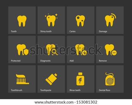 Dental icons Vector illustration