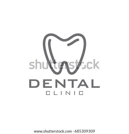 Dental line style logo