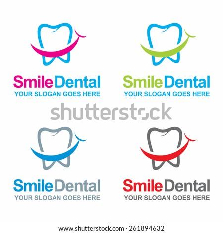 dental logos collection in