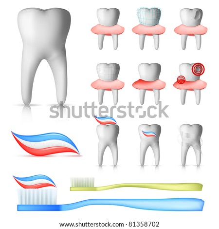 Dental Set - stock vector