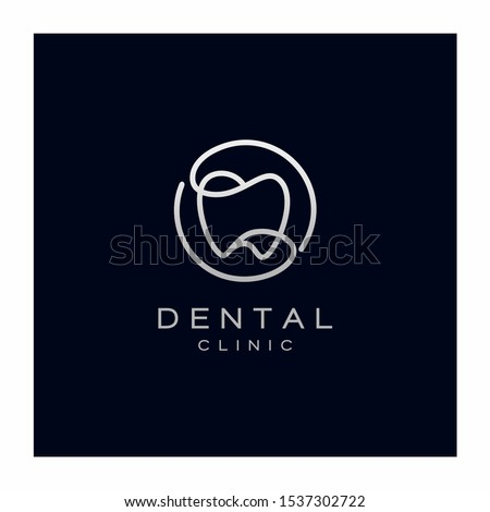 Dental Teeth Logo Design Vector Icon