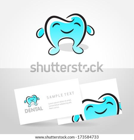 dental tooth smile symbol emblem stomatology sign