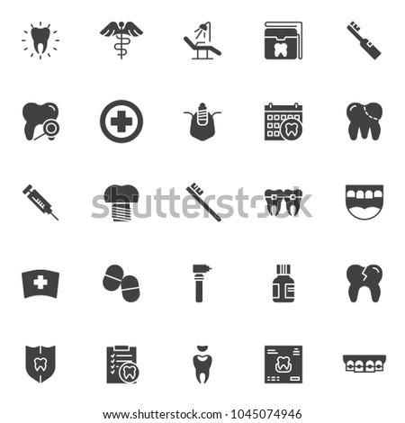 dental vector icons set  modern