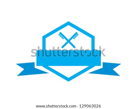Dentist Badge in Blue with Toothbrushes.