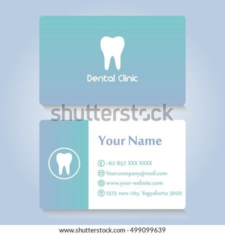 dentist card design. dental card vector