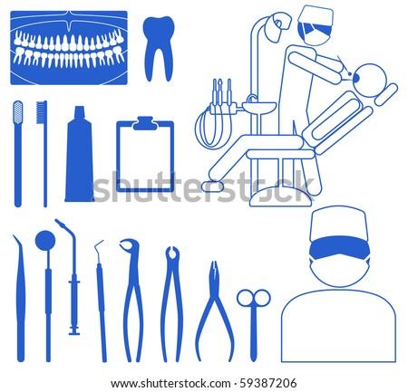 Dentist Medical Dentist Medical Icon Set
