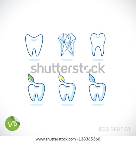 Dentist Symbols Sign Illustration Button Badge Logo for Family Baby Children Teenager People