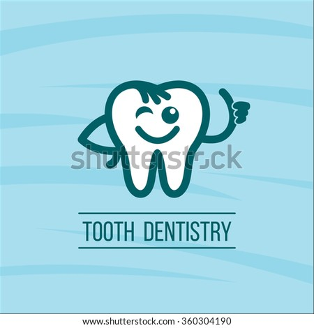 Dentist Tooth Logo Design Template. Dental Clinic Logotype. Stock ...