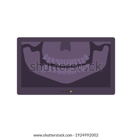 Dentistry composition with flat image of rectangular monochrome dental radiograph vector illustration Stock photo ©