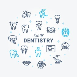 Dentistry Vector Icon Set A01