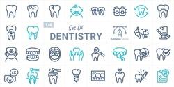 Dentistry Vector Icon Set B01