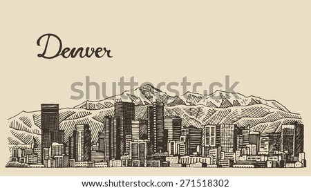 denver skyline  big city...