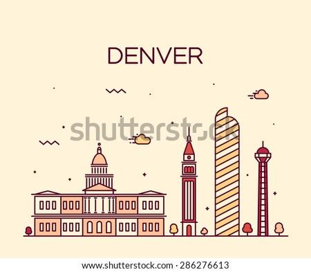 denver skyline  detailed