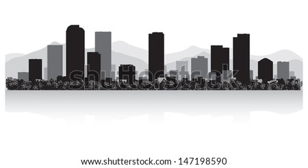 Denver USA city skyline silhouette vector illustration