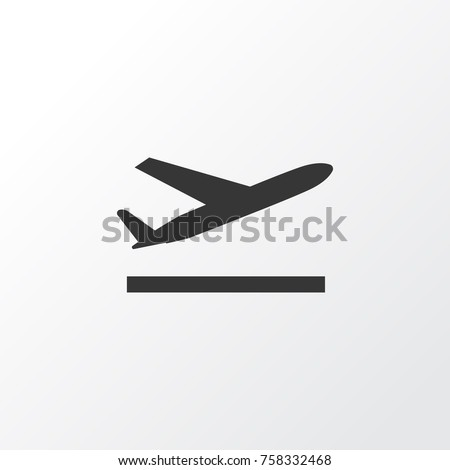 Departure Icon Symbol. Premium Quality Isolated Aircraft Element In Trendy Style.