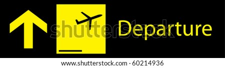Departure sign board in airport vector graphic eps 10