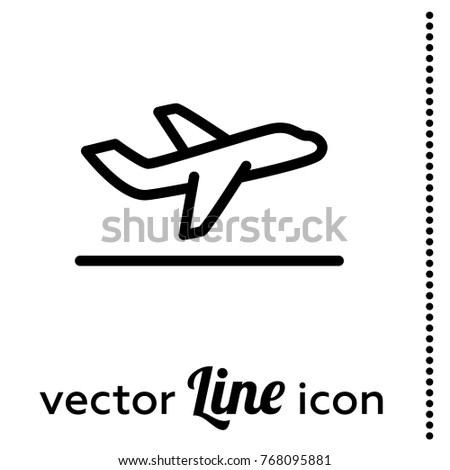 departure vector icon