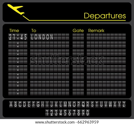 departures board vector background