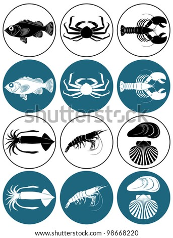 depicted in Figure Seafood