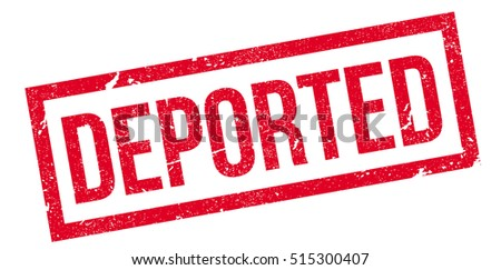 Shutterstock Deported rubber stamp. Grunge design with dust scratches. Effects can be easily removed for a clean, crisp look. Color is easily changed.