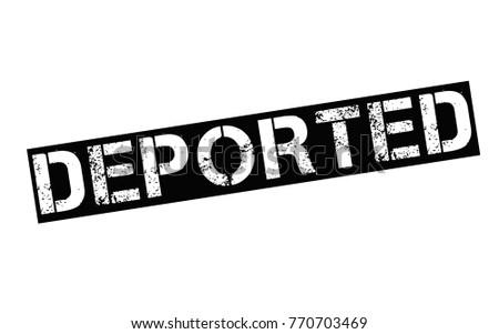 Shutterstock Deported. Typographic stamp visualisation concept Original series.